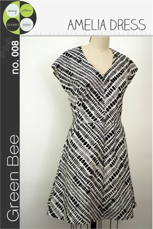 Green Bee Sewing Pattern, Amelia Dress