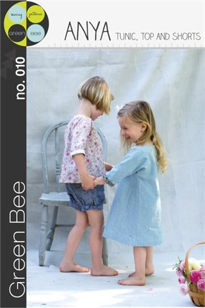 Green Bee Sewing Pattern, Anya Tunic, Top & Shorts