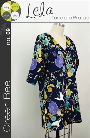 Green Bee Sewing Pattern, Lela Tunic & Blouse