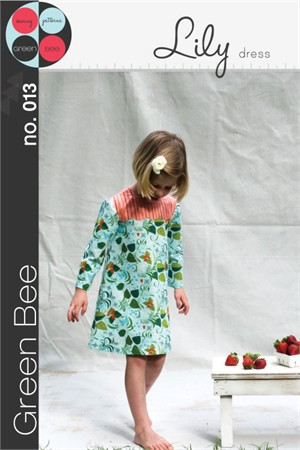Green Bee Sewing Pattern, Lily Dress