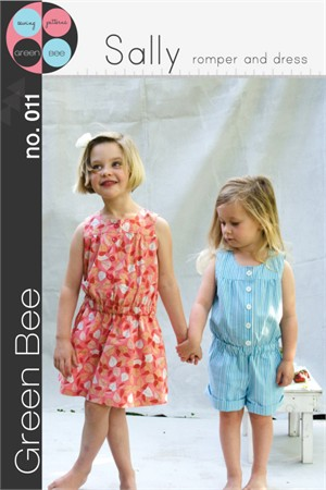 Green Bee Sewing Pattern, Sally Romper and Dress