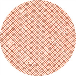 Carolyn Friedlander for Robert Kaufman, Euclid, LINEN, Grid Tangerine