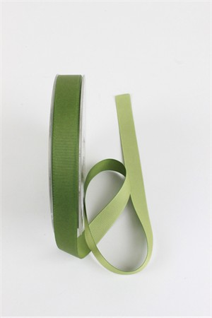 "Frou-Frou, 5/8"" Two Sided Gros-Grain Ribbon, Avocado/Celery"