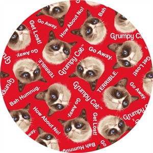 Marcus Fabrics, FLANNEL, Grumpy Cat Red