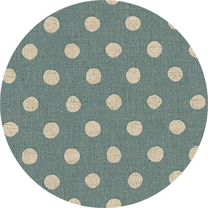 Sevenberry for Robert Kaufman, Natural Dots, CANVAS, Half Inch Dot Denim