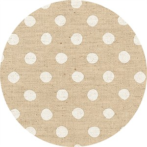 Sevenberry for Robert Kaufman, Natural Dots, CANVAS, Half Inch Dot White