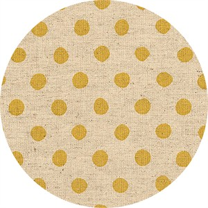 Sevenberry for Robert Kaufman, Natural Dots, CANVAS, Half Inch Dot Yellow