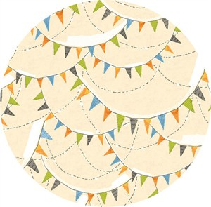 Cori Dantini for Blend, Spooky Town, Halloween Bunting Ivory