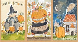 "Cori Dantini for Blend, Spooky Town, Happy Halloweeny (24"" Panel)"