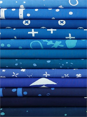 Alison Glass for Andover, Handcrafted Indigos in FAT QUARTERS 12 Total