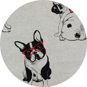 Cosmo Textiles, CANVAS, Happy Hounds Natural