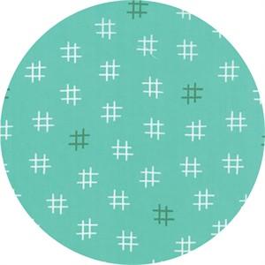Studio M for Moda, Basic Mixologie Geometrics, Hashtag Aqua