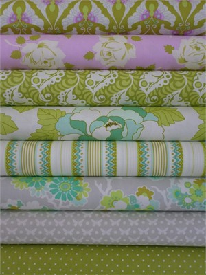 Heather Bailey, Lottie Da, Lavender 7 FAT QUARTERS in Total