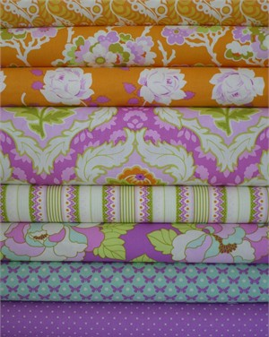 Heather Bailey, Lottie Da, Tangerine 8 FAT QUARTERS in Total