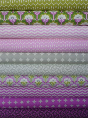 Heather Bailey, True Colors, Orchid in FAT QUARTERS 10 Total