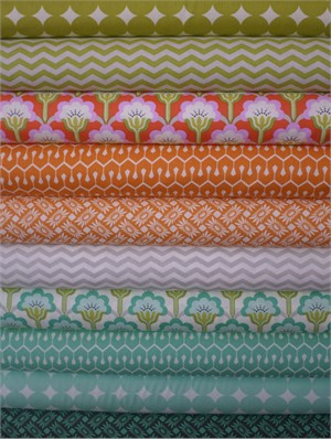 Heather Bailey, True Colors, Turquoise in FAT QUARTERS 10 Total