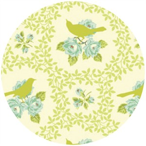 Heather Bailey, Up Parasol, Mockingbird Chartreuse