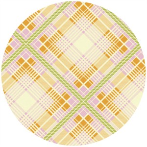 Heather Bailey, Up Parasol, Summer Plaid Tangerine