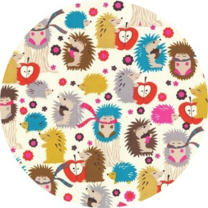 Michael Miller, Fox Woods, Hedgehog Meadow Cream