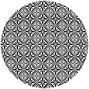Henry Glass, Black, White, & Currant 5, Tile Black