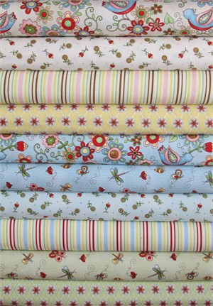 Henry Glass, Cottage Charm in FAT QUARTERS 10 Total