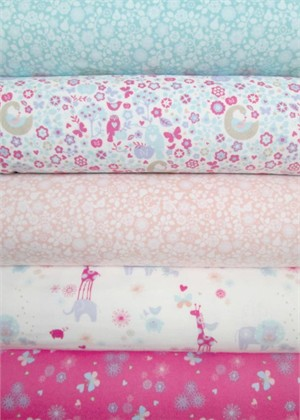 Henry Glass, Ooo Baby, FLANNEL in FAT QUARTERS 5 Total