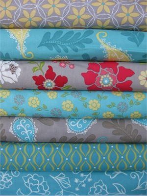 Heather Mulder Peterson, Summer House, Crisp Morning in FAT QUARTERS, 7 Total