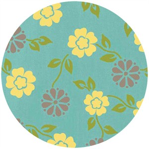 Heather Mulder Peterson, Summer House, Wallpaper Blossom Blue