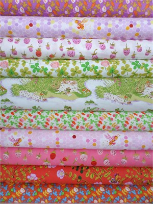 Heather Ross, Briar Rose, Spring in FAT QUARTERS 10 Total (Pre-cut)