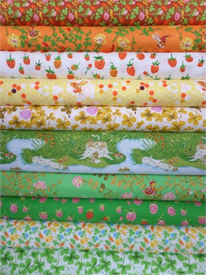 Heather Ross, Briar Rose, Summer in FAT QUARTERS 10 Total