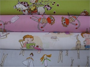 Heather Ross, Crafty Chloe in FAT QUARTERS, 4 Total