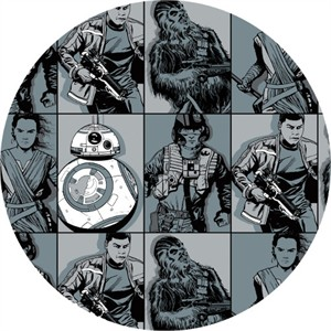 Camelot Fabrics, Star Wars, FLANNEL, Heroes in Squares