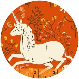 Heather Ross, Far Far Away, Unicorns Orange