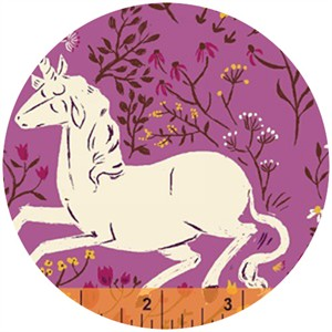 Heather Ross, Far Far Away, Unicorns Purple