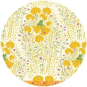 Heather Ross, Far Far Away, Frog Prince Yellow