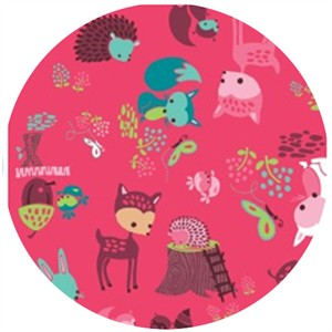 Heather Rosas, Fairyville, Woodland Animals Bright Pink