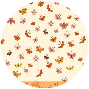 Heather Ross, Tiger Lily, Butterflies Cream