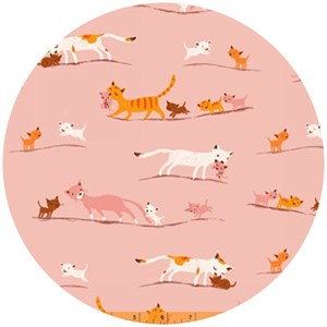 Heather Ross, Tiger Lily, WIDE WIDTH, LAWN, Mother�s Love Pink