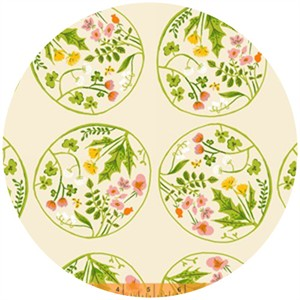 Heather Ross, Tiger Lily, Wreaths Cream