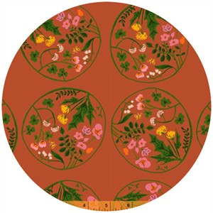Heather Ross, Tiger Lily, Wreaths Orange