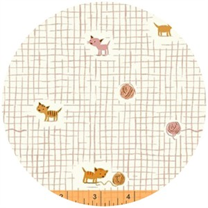 Heather Ross, Tiger Lily, Yarn Grid Pink