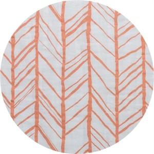 Shannon Fabrics, Embrace, DOUBLE GAUZE, Herringbone Papaya