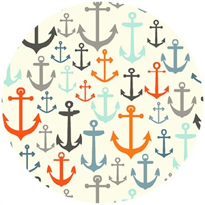 Henley Studio, Nautical, Anchors Cream