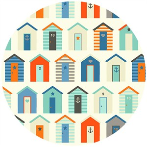 Henley Studio, Nautical, Beach Huts Cream
