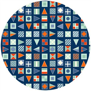 Henley Studio, Nautical, Flags Blue