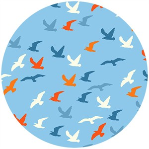 Henley Studio, Nautical, Seagulls Blue