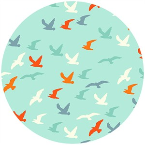 Henley Studio, Nautical, Seagulls Teal