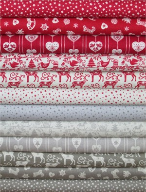 Henley Studio, Scandi Christmas in FAT QUARTERS 9 Total