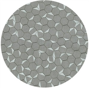 Jennifer Sampou for Robert Kaufman, Shimmer On, Hexagon Pewter