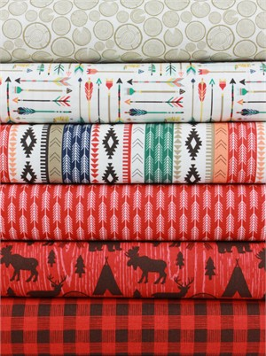 Design by Dani for Riley Blake, High Adventure, Red in FAT QUARTERS 6 Total